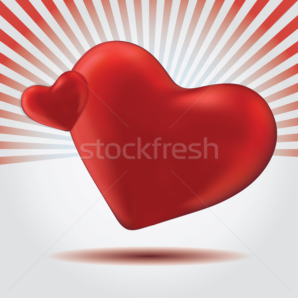 Ilustração vermelho valentine coração jpg illustrator Foto stock © Luppload