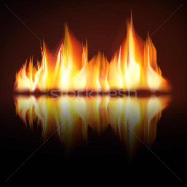 Yanan yangın alev siyah jpg ressam Stok fotoğraf © Luppload