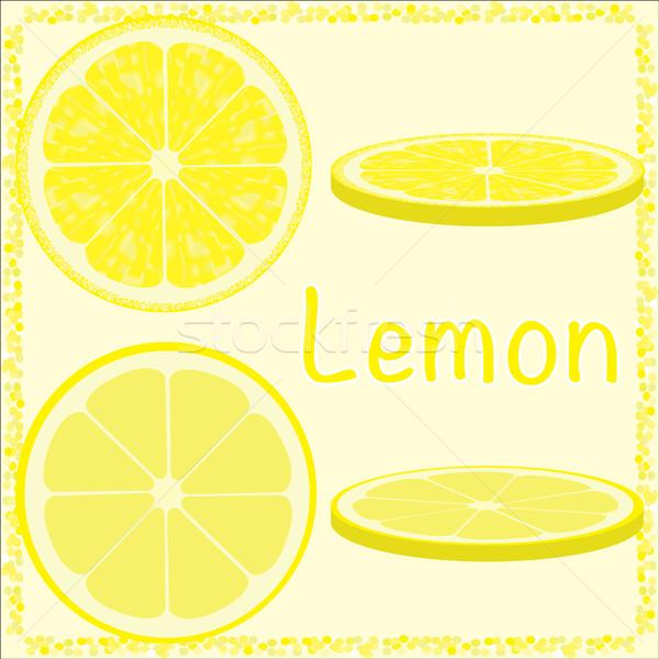 цитрусовые Ломтики вектора лимона природы фрукты Сток-фото © Luppload