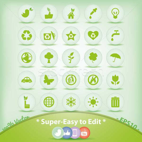 生態学 緑 環境 シンボル 図示した ストックフォト © Luppload