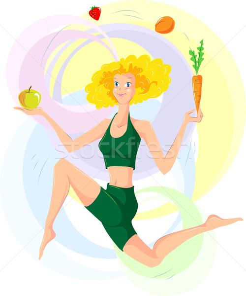 Здоровый образ жизни стиль женщину градиенты используемый eps8 Сток-фото © LVJONOK
