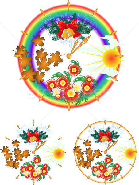 年 クロック 四季 ベクトル セット 3 ストックフォト © LVJONOK