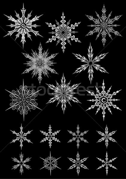 Set fiocchi di neve vettore stile tutti Foto d'archivio © LVJONOK