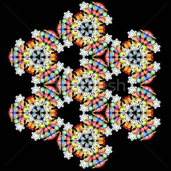 Kaleidoscope of new years decorations Stock photo © LVJONOK