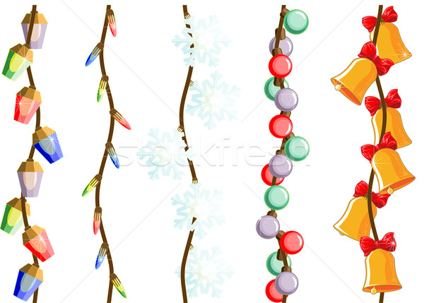 Christmas and New Year lights and decorations Stock photo © LVJONOK