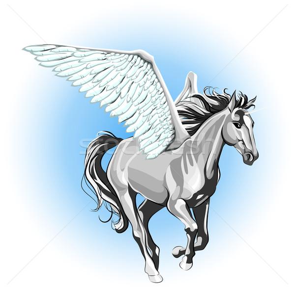 Unicorn, pegasus Stock photo © LVJONOK