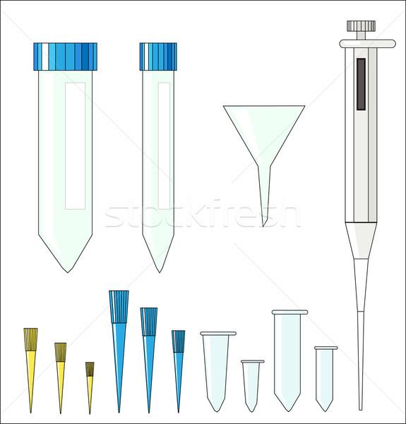 セット 室 プラスチック ベクトル 青 ラボ ストックフォト © LVJONOK