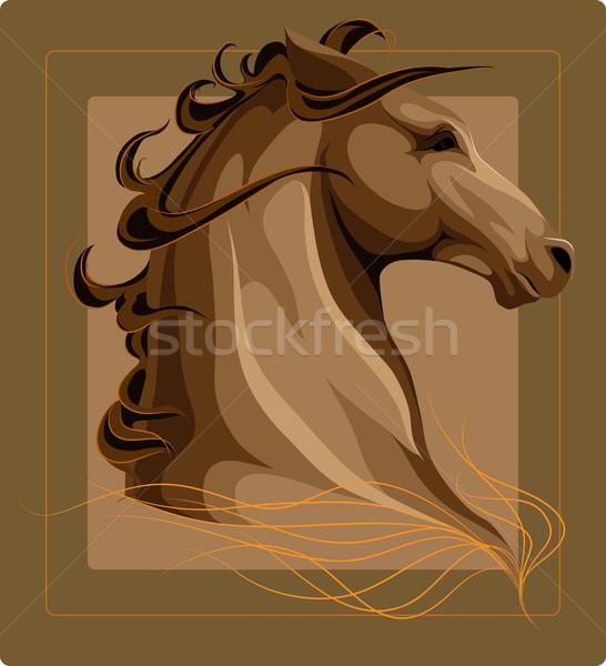 ストックフォト: 馬 · 頭 · ベクトル · 画像 · ファーム