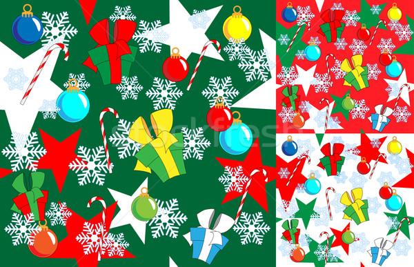 Karácsony új évek végtelenített három szín Stock fotó © LVJONOK