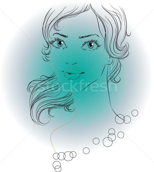 画像 女性 美しい 目 ベクトル ストックフォト © LVJONOK