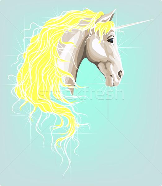 ストックフォト: 頭 · 風 · 夢 · 白 · 魔法 · 黄色