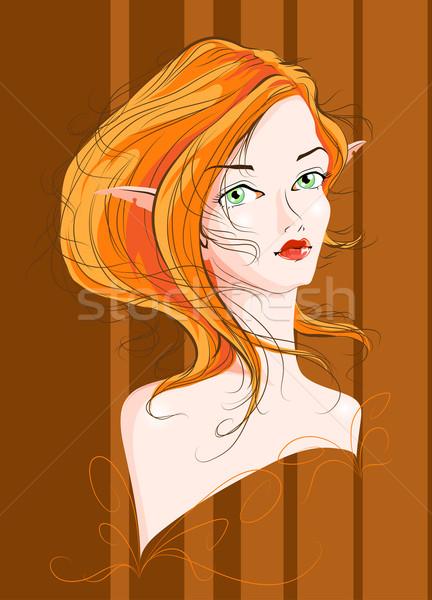 Vettore immagine bella occhi capelli Foto d'archivio © LVJONOK
