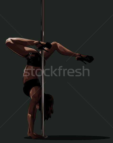 Handstand near the pole. Stock photo © LVJONOK