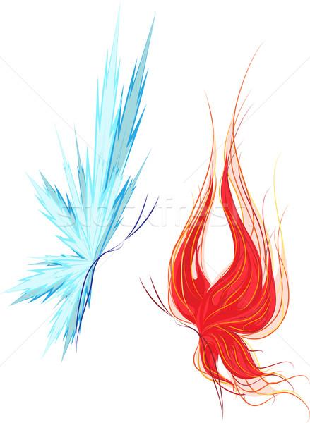 Szett kettő pillangók tűz jég pillangó Stock fotó © LVJONOK