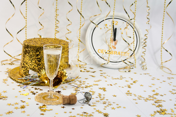 New Year's Celebration for One Stock photo © LynneAlbright