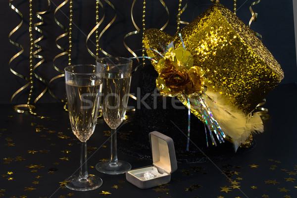 新しい 年 エンゲージメント パーティ 2 フルート ストックフォト © LynneAlbright