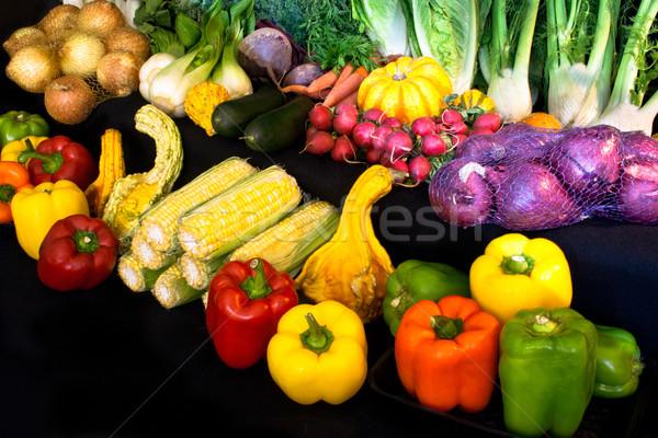 Display of Market Vegetables Stock photo © LynneAlbright
