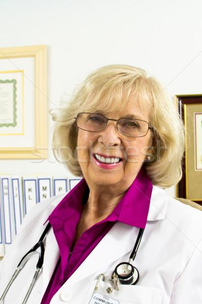 笑い 医師 女性 医療 健康 ストックフォト © LynneAlbright