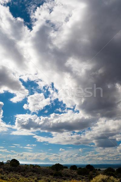 Foto stock: Nubes · de · tormenta · azul · país