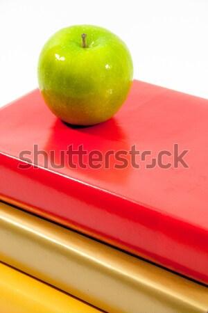 緑 リンゴ 金 赤 黄色 図書 ストックフォト © LynneAlbright