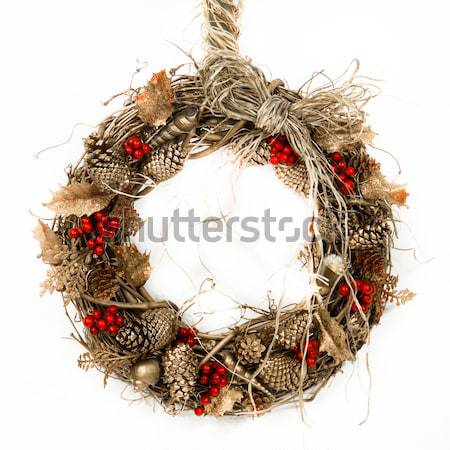 Field, Forest and Ocean Harvest Wreath Stock photo © LynneAlbright