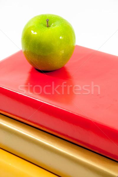緑 リンゴ 赤 金 黄色 図書 ストックフォト © LynneAlbright