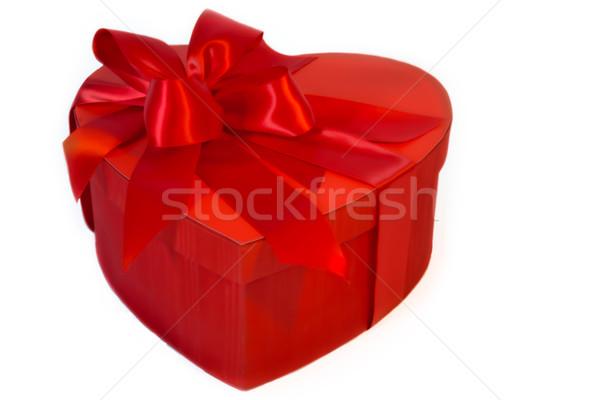 バレンタインデー 中心 ボックス 赤 サテン ストックフォト © LynneAlbright