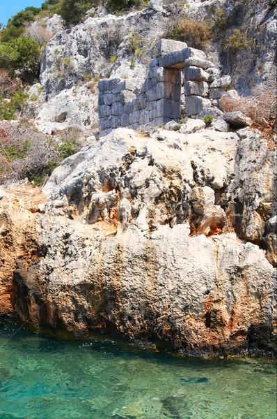 View rovine antica città Turchia montagna Foto d'archivio © lypnyk2