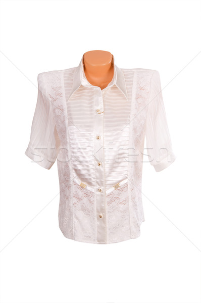Modern póló fehér gyönyörű fehér blúz izolált Stock fotó © lypnyk2