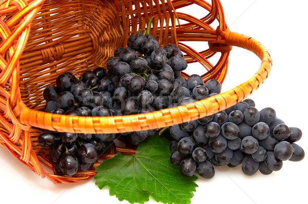 Bunches of grapes  in basket. Stock photo © lypnyk2
