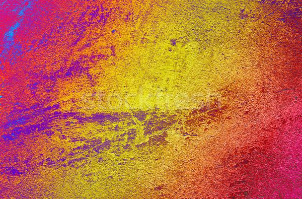 Stuc vieux mur texture coloré Photo stock © lypnyk2