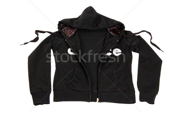 Woolen modern sweater with hood. Stock photo © lypnyk2