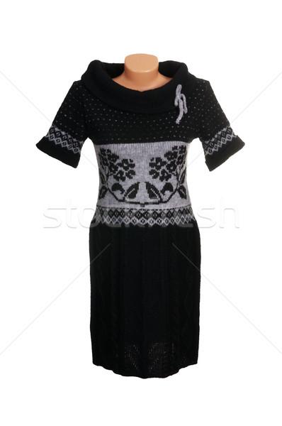 シック 高級 グレー ドレス スタイリッシュ 孤立した ストックフォト © lypnyk2