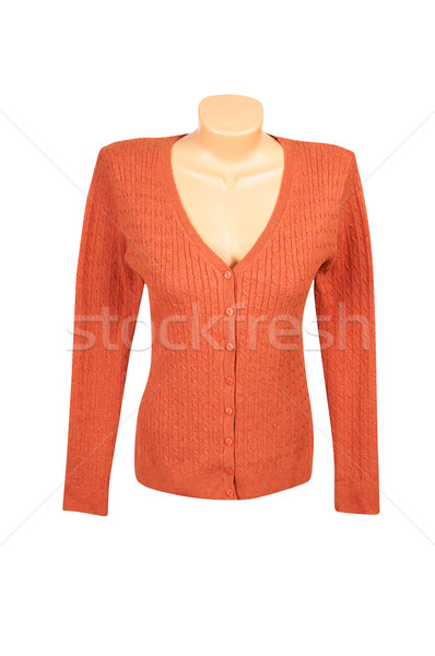 Elegant orange tunic  on a white. Stock photo © lypnyk2