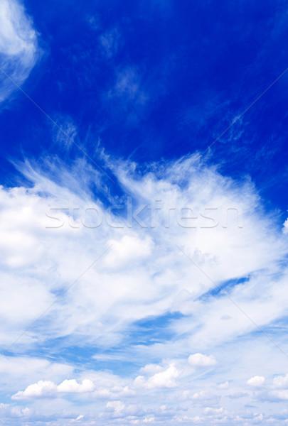 удивительный лазурный небе красивой Blue Sky облака Сток-фото © lypnyk2