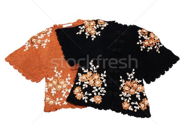 Stock fotó: Elegáns · pólók · nők · fehér · kettő · elegáns