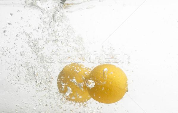 Exotisch vruchten zoetwater citroenen ruimte waterval Stockfoto © lypnyk2