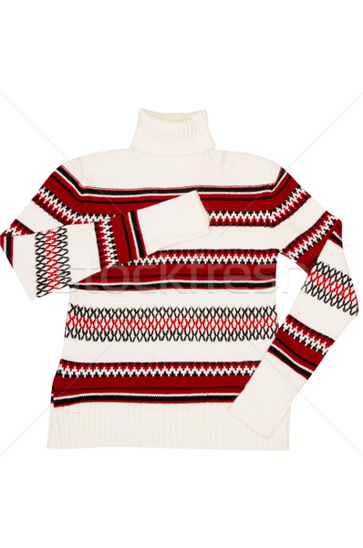 Nice modern sweater on a white. Stock photo © lypnyk2