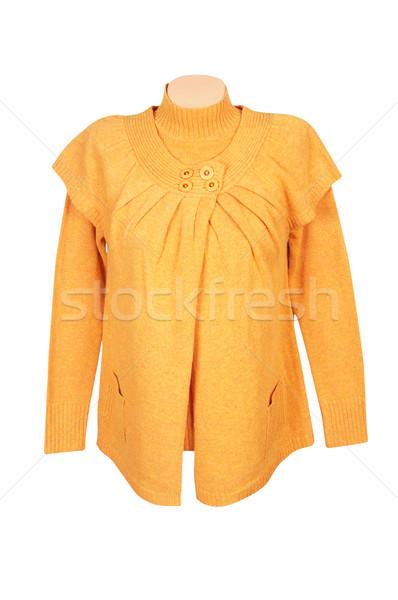 Elegante giallo tunica maglione bianco moderno Foto d'archivio © lypnyk2