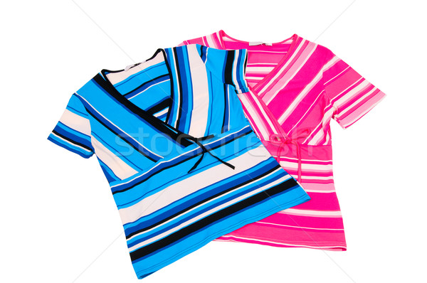 Bella strisce abito due meraviglioso isolato Foto d'archivio © lypnyk2