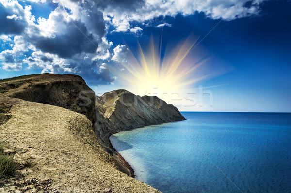 Csodálatos hegyek fenséges nap varázslatos kilátás Stock fotó © lypnyk2