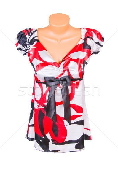 Stock fotó: Elegáns · ruha · fehér · csodálatos · tunika · izolált