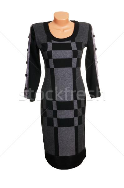 Luxus modern szürke ruha elegáns izolált Stock fotó © lypnyk2