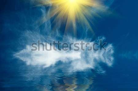 Stock fotó: Jókedv · napsugarak · fölött · óceán · csend · csodálatos
