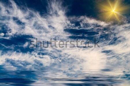 Lovely  gently sun above sea. Stock photo © lypnyk2
