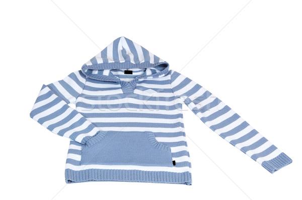 Woolen striped sweater on a white. Stock photo © lypnyk2