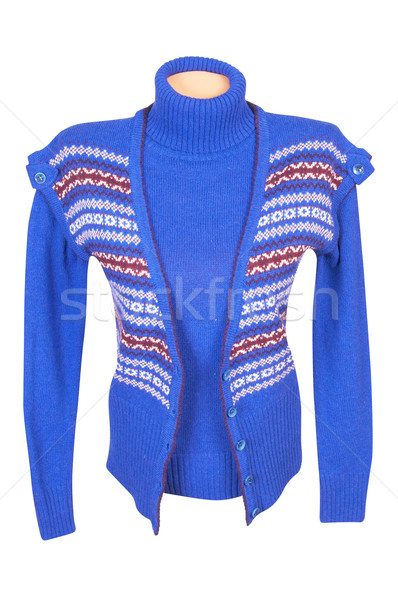 Stylish waistcoat and sweater on a white Stock photo © lypnyk2
