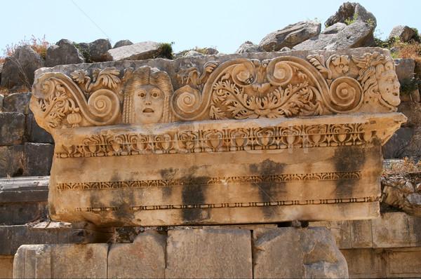 Ancient masks in Myra. Turkey. Stock photo © lypnyk2