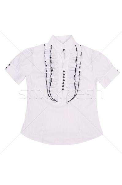 Elegáns elegáns fehér póló fehér blúz izolált Stock fotó © lypnyk2