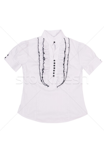 Elegant, stylish white shirt on a white. Stock photo © lypnyk2